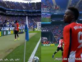 Iñaki Williams vivió un triste episodio de racismo en Cornellá. Capturas/Movistar+