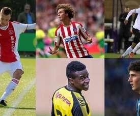 Cinco jovens que surpreenderam na Youth League. EFE/Derby/Atalanta/Ajax/BVB
