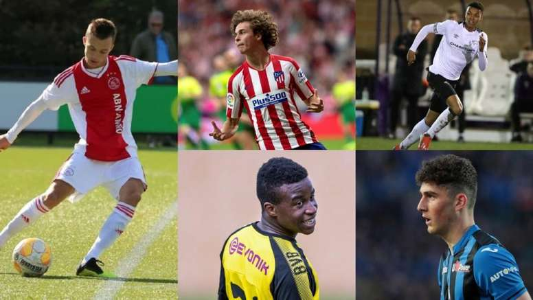 Cinco jovens que surpreenderam na Youth League. EFE/Derby/Atalanta/Ajax/BVB