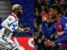 Les deux Dembélé croiseront le fer en Ligue des champions. AFP/EFE