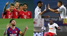 Uefa escolheu os 23 melhores da Champions League. AFP - EFE