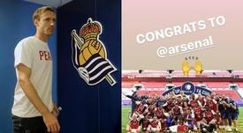 Monreal jugó seis temporadas y media en el Arsenal. EFE/nachomonreal_