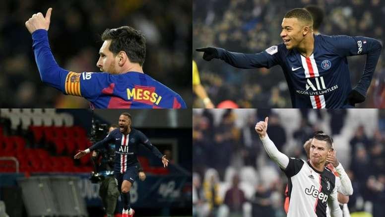 Los 10 jugadores mejor pagados según 'France Football'. AFP
