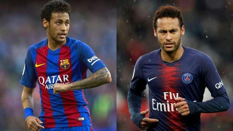 Neymar dejó un listón muy alto en España. EFE-AFP