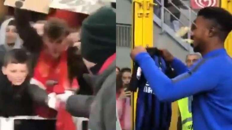Özil y Baldé regalaron sus camisetas tras sus respectivos partidos. Capturas/Arsenal/Inter