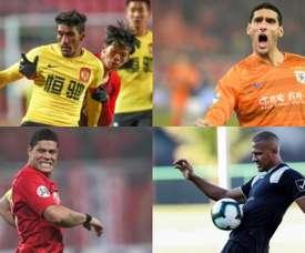 20 craques internacionais que jogam na China. EFE - AFP