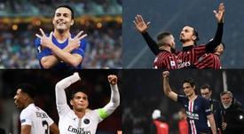 El once de los futbolistas que acaban contrato en 2020. EFE/AFP