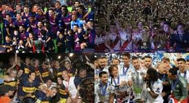 El 'top 10' de equipos con más títulos internacionales. EFE/AFP