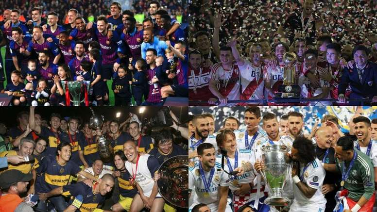 The 'top 10' of teams with the most international titles. EFE/AFP