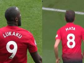 Lukaku and Mata helped Man United take the lead. Capturas/MovistarLigadeCampeones