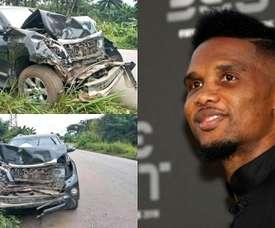 Eto'o sai ileso de um grave acidente em Camarões. tjcope/AFP