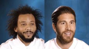 Marcelo, Zidane, Ramos e Benema contam sobre a primeira vez no Bernabéu. Capturas/RealMadrid
