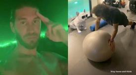 Ramos y Marcelo mostraron sus rutinas por redes. Instagram/sergioramos/marcelotwelve