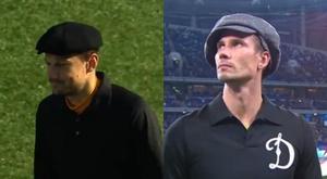 Porteros rusos homenajearon a Lev Yashin vistiendo como él. Capturas/MatchTV