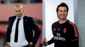 Le statistiche comparate tra Zidane e Solari. EFE