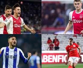 Possíveis reforços do Atlético de Madrid. AFP