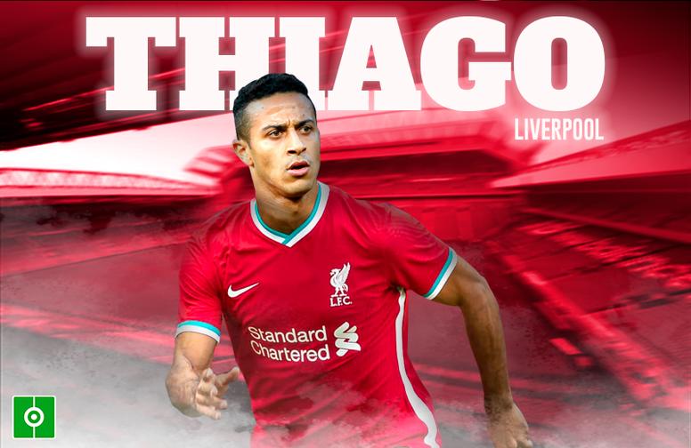 OFICIAL: Thiago, nuevo jugador del Liverpool. BeSoccer