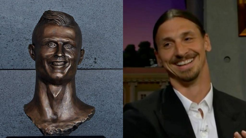 Ibrahimovic falou sobre o busto de Cristiano Ronaldo