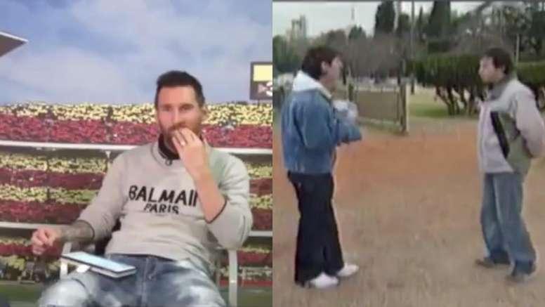 Messi gave an interview. Screenshots/TyCSports
