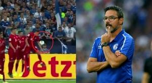 Un fan porte plainte contre l'arbitre de Schalke 04-Bayern. Capture/Movistar/AFP