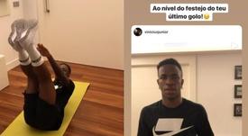 Vinicius aceptó el reto de Cristiano y el luso le felicitó. Instagram/viniciusjunior - cristiano
