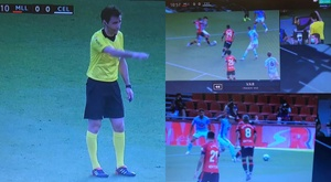 Mallorca got a penalty after one of the worst decisions of the season. Capturas/MovistarLaLiga