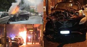 Voici l'état de la voiture de Pietro Iemmello après l'attaque. Captures