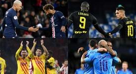 Les duos européens qui ont marqué au moins dix buts cette saison. EFE - AFP