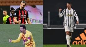 El 'top ten' con 15 o más goles por año en el siglo XXI. EFE - AFP
