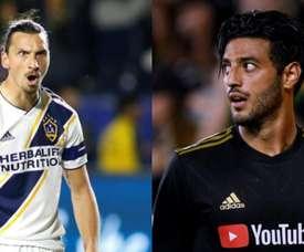 Ibrahimovic et Vela déterminants en MLS. EFE/MLS