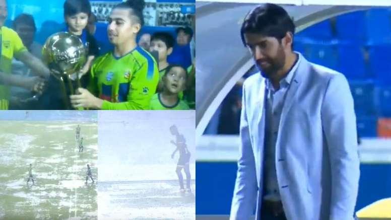 Debut a lo 'Loco': Abreu gana la Copa con polémica y bajo un diluvio. Capturas