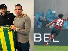 Le Sporting Lisbonne avance dans son mercato. Montaje/Aldosivi/AFP