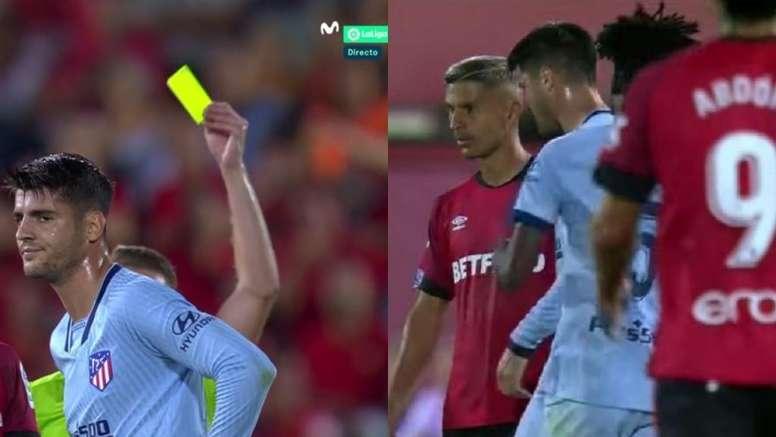 Morata volverá a tener enfrente a Alberola Rojas y a Salva Sevilla. Movistar/LaLiga