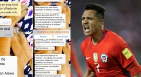 El chileno pidió respeto y que no se vuelva a molestar a su pareja. Twitter