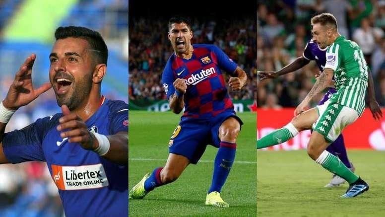Los tres delanteros más en forma en España. Montaje/EFE