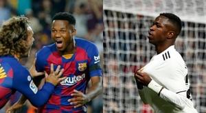 Il y a débat : Ansu Fati contre Vinicius. AFP