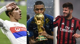 Aouar, Mbappé and Cutrone, three of the nominees for the Golden Boy. AFP/BeSoccer