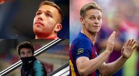 O trio que o Barça pode usar contra o Ibiza. EFE