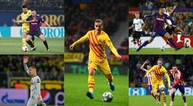Ter Stegen, Arthur, Lenglet, Griezmann and De Jong, absent from Barça's training session. EFE/AFP