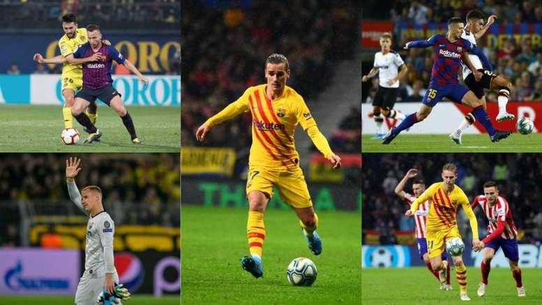 Los cinco futbolistas a los que Valverde le ha dado permiso. Montaje/EFE/AFP