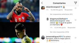 La escena de celos entre Vidal, James y Vargas. EFE