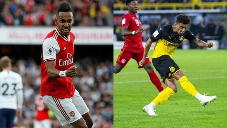 Sources link Jadon Sancho and Aubameyang with Madrid. AFP