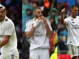 O trio pode estrear contra o PSG. AFP/EFE