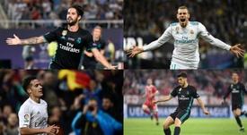 Bale, Isco, Asensio y Lucas Vázquez tendrán más importancia. AFP