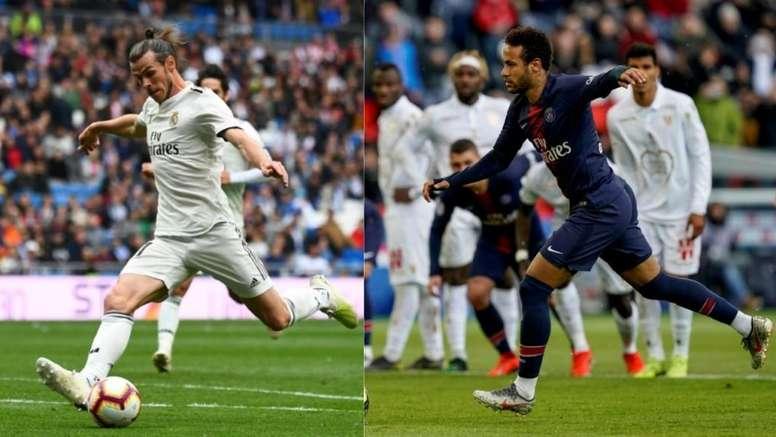 Neymar et Bale, un échange incompatible. AFP