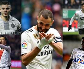 Four candidates to share '9' with Benzema. BeSoccer/AFP/EFE