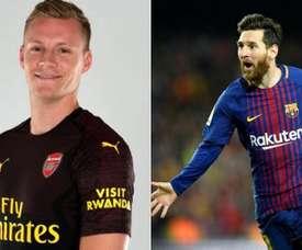 Leno esqueceu de Messi. Montaje/BeSoccer