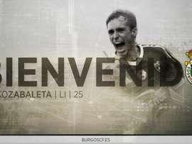 El jugador se formó en la cantera del Athletic de Bilbao. BurgosCF
