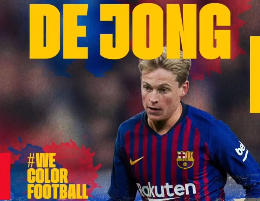 Official De Jong Joins Barcelona Besoccer
