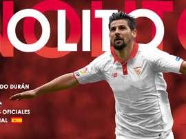 Espanhol assinou contrato para as próximas três temporadas. SevillaFC